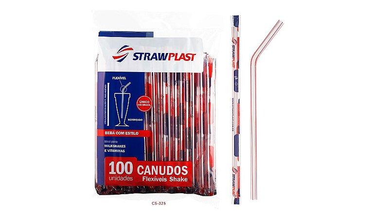 CANUDO FLEXIVEL SHAKE SACHE VERM. (CS-325 STRAWPLAST) PCT C/100UN