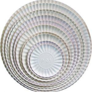 PRATO PAPELÃO BRANCO No.4 (20cm) C/100un (SABRINA PRATOS)