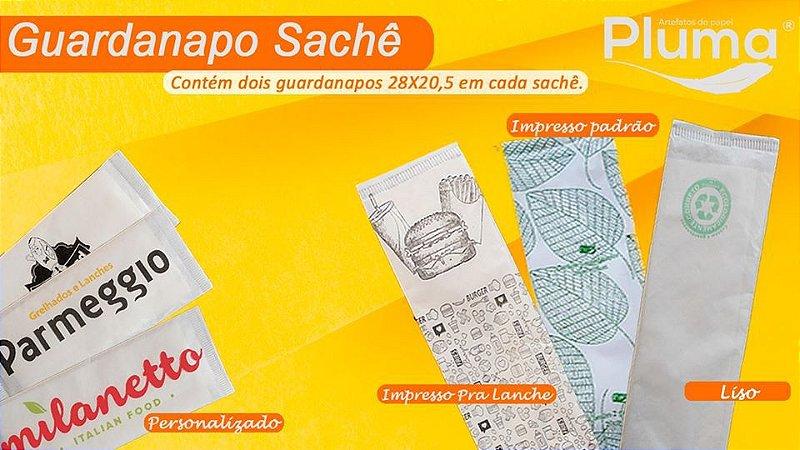 GUARDANAPO (PLUMA) (PRA LANCHE) SACHE 28X20,5 CX C/1000 SACHES
