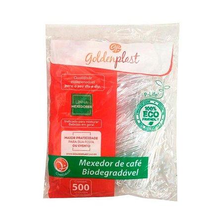 MEXEDOR P/ CAFE PEQ BIODEGRADAVEL CRISTAL (GODENPLAST) PCT C/500un
