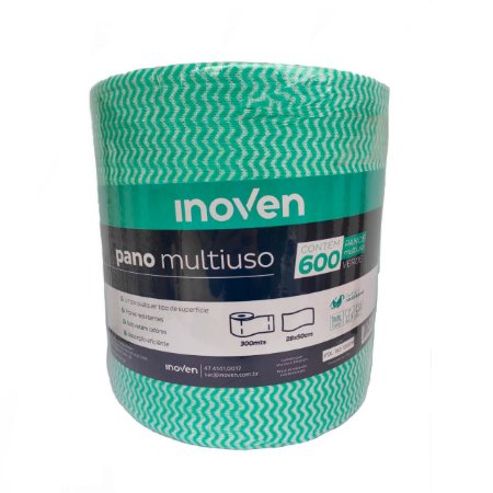 PANO MULTIUSO ROLO 300MTS X 28CM (INOVEN) VERDE