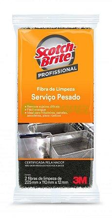 ESPONJA FIBRA SERVIÇO PESADO 3M (SCOTCH BRITE) 110X225 (CX C/56pct)