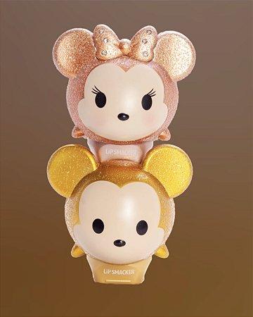 LIPSMACKER - Lip Balm - Mickey e Minnie - Glitter Ouro - EDIÇÃO LIMITADA. (Contém 2 unidades).