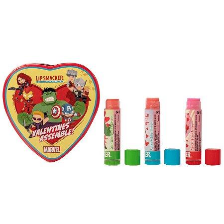 LIPSMACKER - Valentines Assemble - Vingadores (Contém 3 unidades)