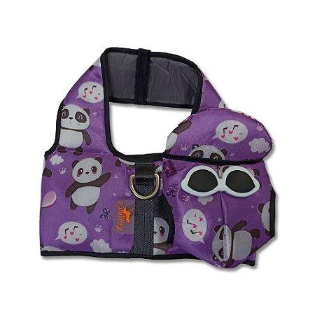 Colete c/ Boné - Purple Panda
