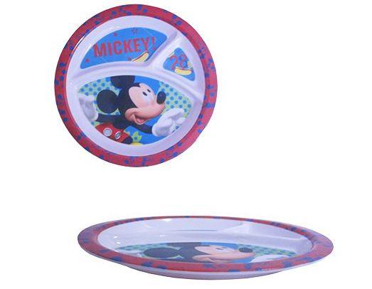 Prato Com divisórias Mickey
