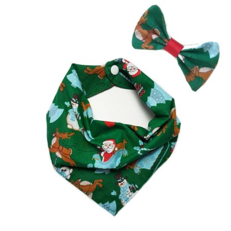 Conjunto Bandana e Laço Natal2