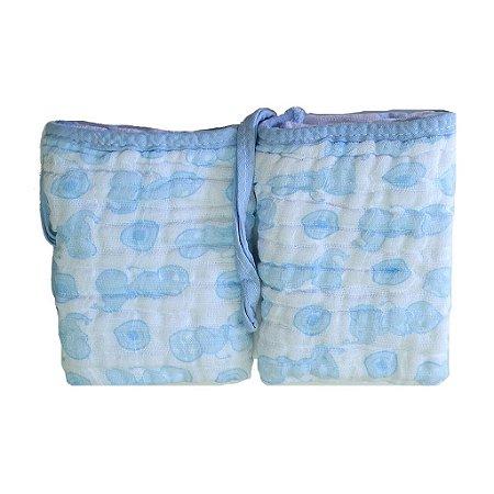 Paninho de Boca Soft Elefantinho Azul - 2 unidades
