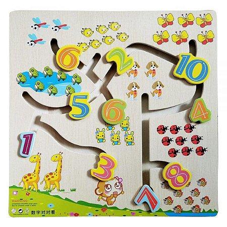 Brinquedo Educativo Didático Aprenda Brincando Números - 10 Peças