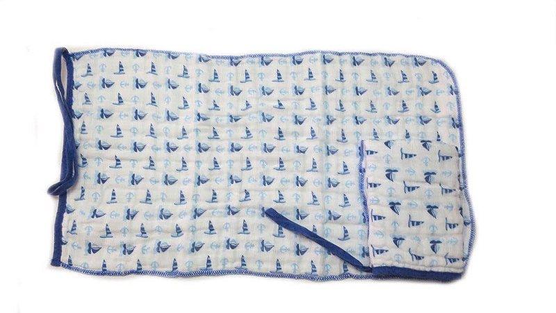 Paninho de Boca Soft Barquinhos Azul - 2 unidades