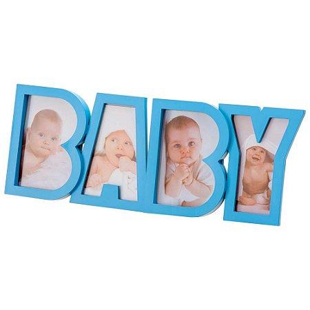 Porta Retrato Multiplo 10X15 Baby Azul