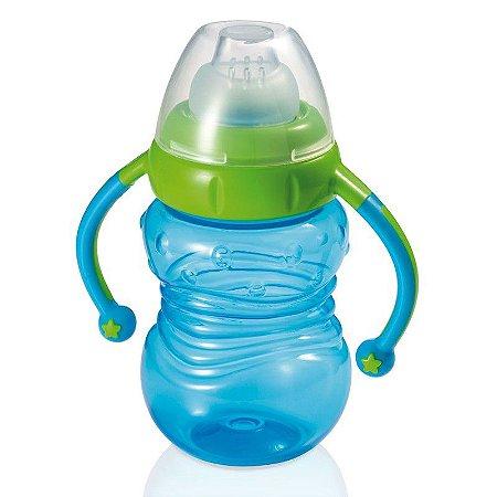 Copo de Treinamento com Bebedor de Silicone Learn Azul- Multikids Baby