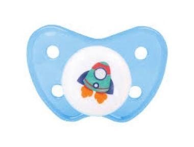Chupeta Bico Ortodôntico Foguete Baby Go - 0 a 6 meses
