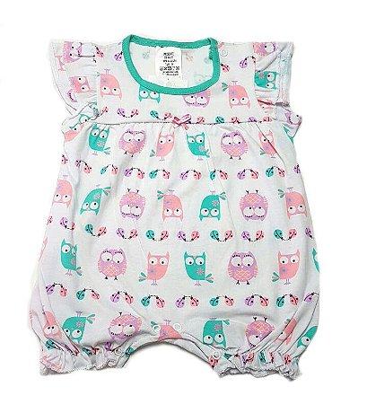 c04b0957a2 Macacão Curto Coruja - Tamanho M - Belita Mimos - Enxoval para Bebê ...