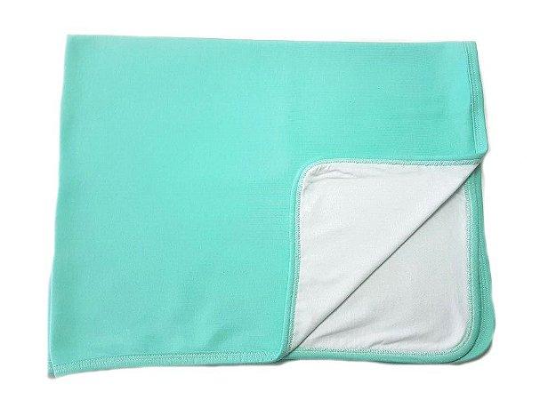 Manta Verde com Branco