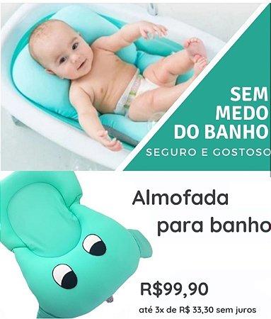 0a9688f58 Almofada Para Banho Verde Água - Olhinhos - Belita Mimos - Enxoval ...