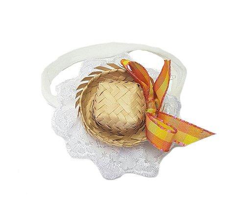 Faixa c/ Mini Chapéu Laranja