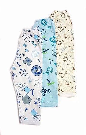 Kit de 3 calças Estampadas  Menino