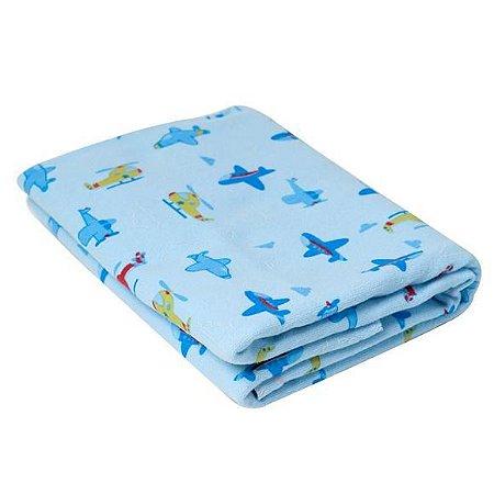 Cobertor Estampado Aviões Azul- Karinho