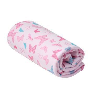 Cobertor Estampado Borboletas Rosa- Karinho