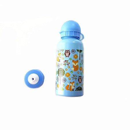 Garrafa Squeeze de Aluminio 400ml- azul