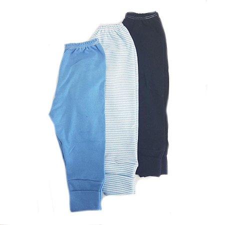 Kit de 3 calças de Menino listras