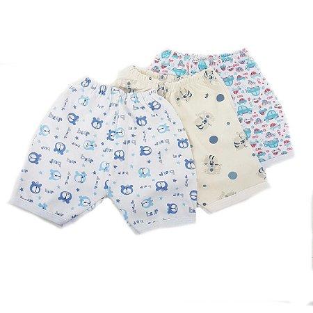 Kit de 3 Shorts Estampados Menino- CARRINHO