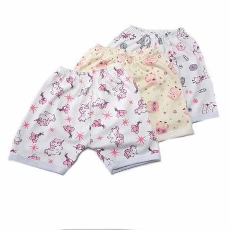 Kit de 3 Shorts Estampados Menina- ELEFANTE