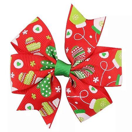 Laço Natal Vermelho - Luvinhas
