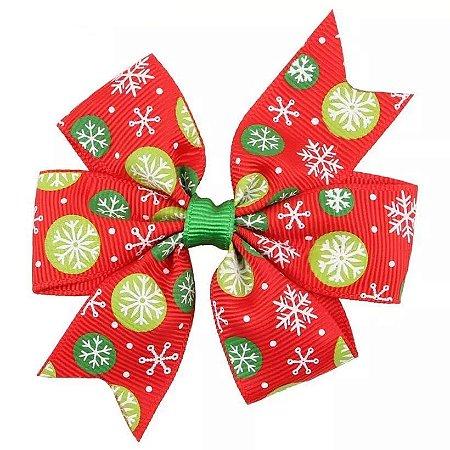 Laço Natal Vermelho - Bolinhas