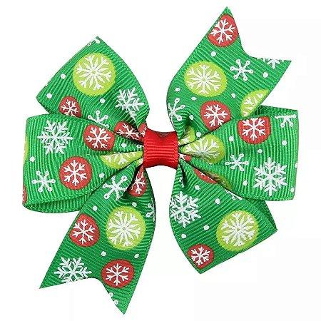 Laço Natal Verde - Bolinhas