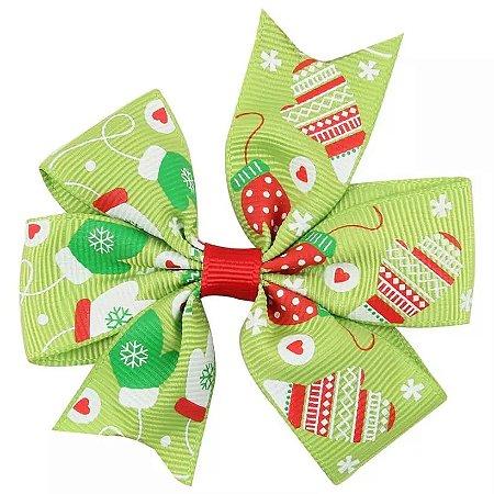 Laço Natal Verde - Luvinhas