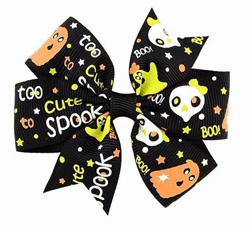 Laço Halloween Preto - Boo