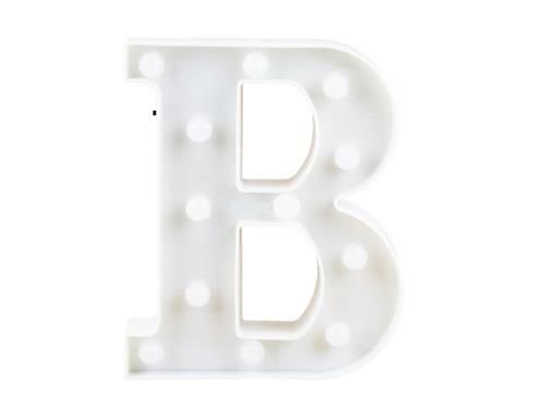 "Letra Luminosa Led a Pilha ""B"""