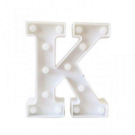 "Letra Luminosa Led a Pilha ""k"""