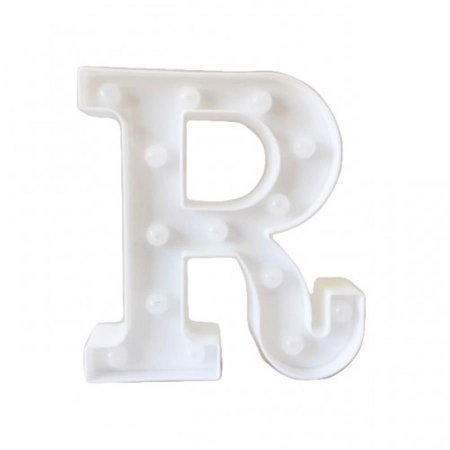 "Letra Luminosa Led a Pilha ""R"""