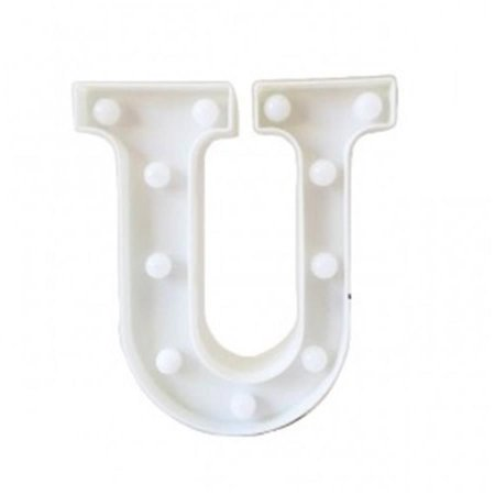 "Letra Luminosa Led a Pilha ""U"""