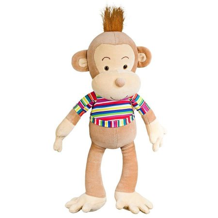 Pelúcia Macaco Chiquinho Bege Escuro - Anjos Baby