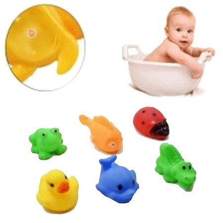 Bichinhos para Banho com 6 Peças