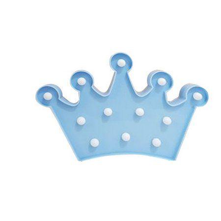 Luminária de Coroa Azul com Leds