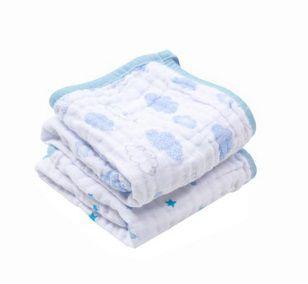 Paninho de Boca Soft  Nuvens/estrelas Azul- 2 unidades