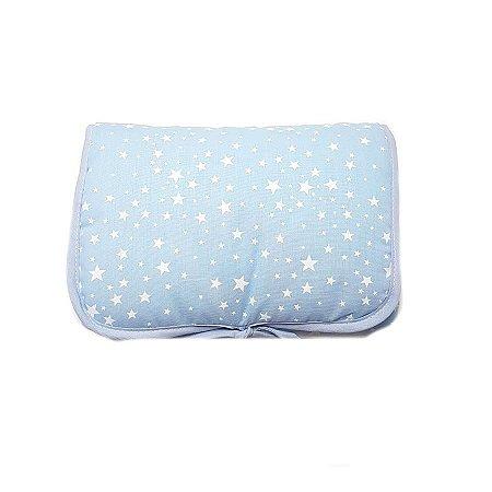 Trocador de Fraldas Portátil - Estrelas Azul