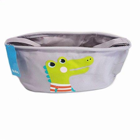 Organizador Para Carrinho De Bebê Buba- Cinza c/ Jacaré