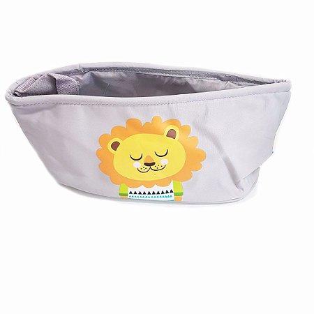 Organizador Para Carrinho De Bebê Buba- Cinza c/ Leão