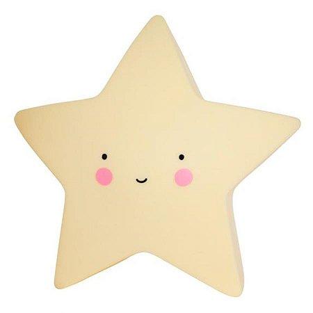 Mini Luminária Led Estrela Amarela