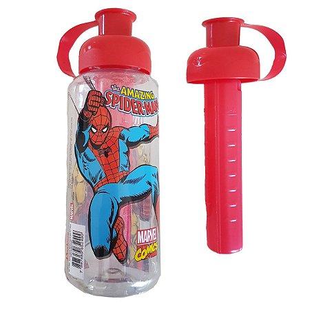 Garrafa Infantil 600ml com tubo de gelo - Super herois