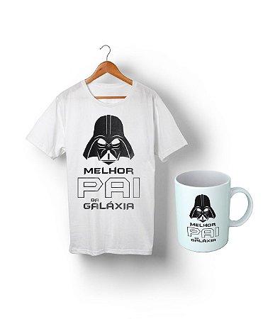Kit O Melhor Pai da Galaxia - Camiseta + Caneca