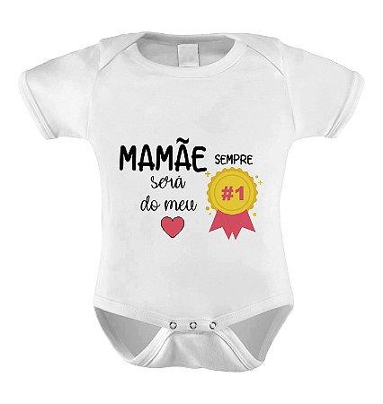Body Divertido ou Camisetinha Mamãe Nº1 - Menina