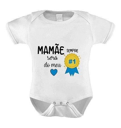 Body Divertido ou Camisetinha Mamãe Nº1 - Menino