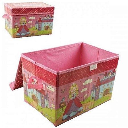 Caixa Organizadora de Brinquedos - Rosa